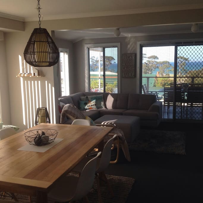 Dining Room through to Lounge Rooms