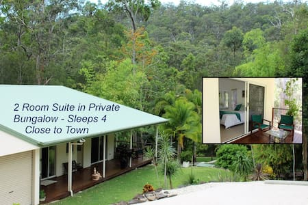 Private Forest Bungalow Suite - 2 Rooms Sleeps 4 - Bonogin