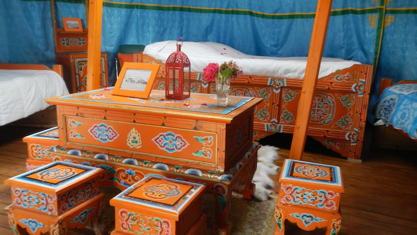 Veritable yourte de mongolie - Thury-Harcourt - Yurt