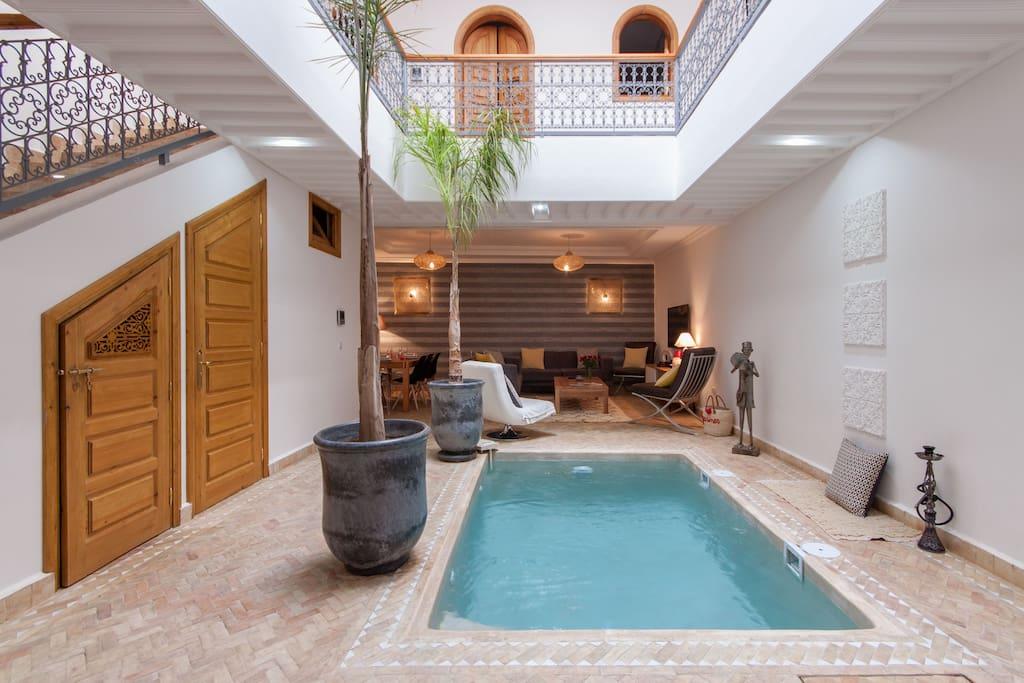Riad melilo avec piscine chauff e en exclusivit for Riad marrakech piscine chauffee