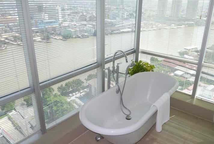 River view corner apartment - Banguecoque - Apartamento