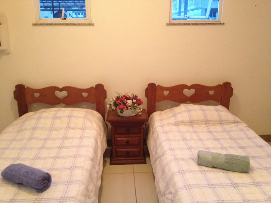 2 single bed, you can join with you prefer