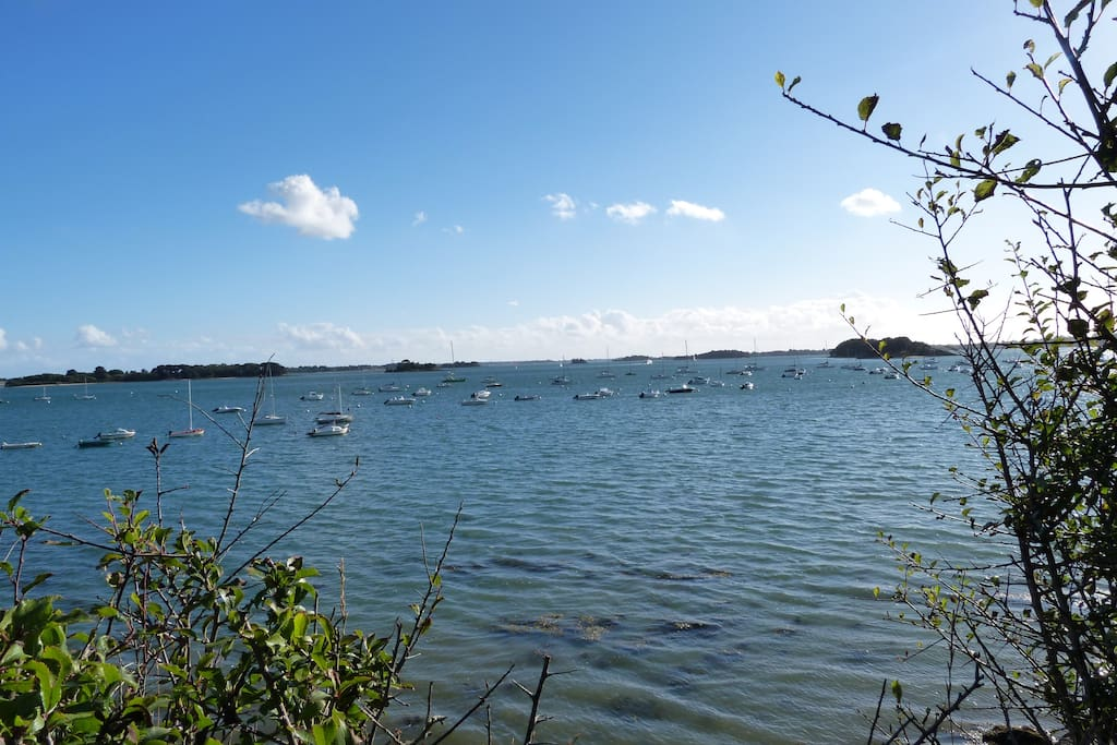 Toute la beauté du Golfe du Morbihan et de ses plages à 3mn de voiture