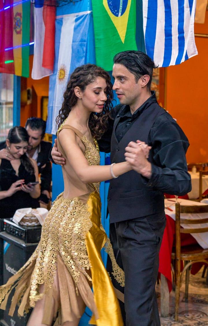 Tango at Caminito, La Boca.