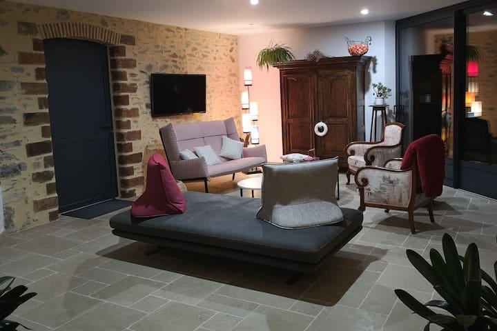 Hébergement confortable et au calme en campagne.