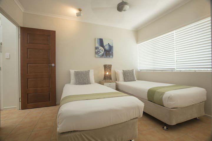 Guest suite, beds can be configured as two singles or one king.