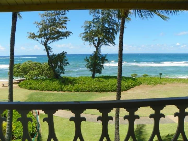 Kauai Direct Oceanfront Top Floor Corner #345
