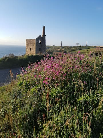 Poldark was filmed here- a 10 minute stroll from the cottage.