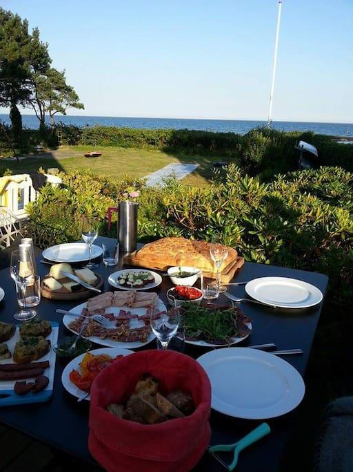 Middag på terrassen