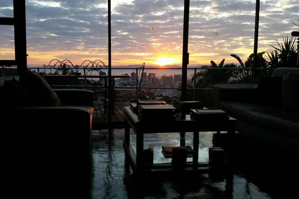 Sunrise from the lounge