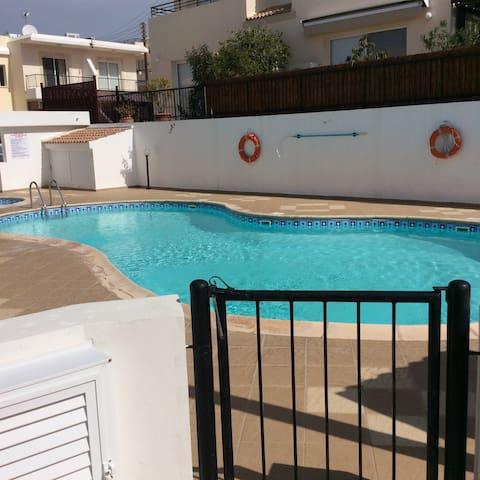 Spacious pool.