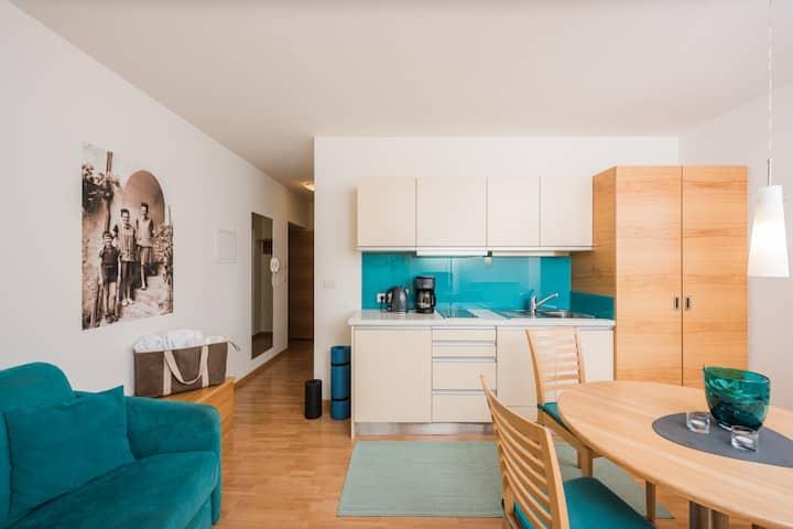 Apartment mit Blick ins Tal und Services