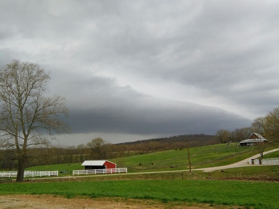 Awesome spring storm rolling in on the Ranch..