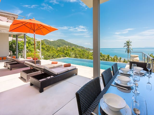 TROPICAL 4br - Pool, Panoramic Sea View, Design