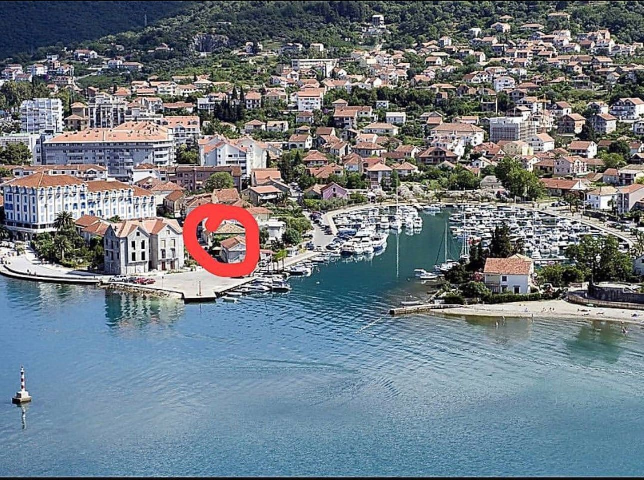 Our apartment is located here. Red mark is on apartment on the picture. In centre of Tivat city