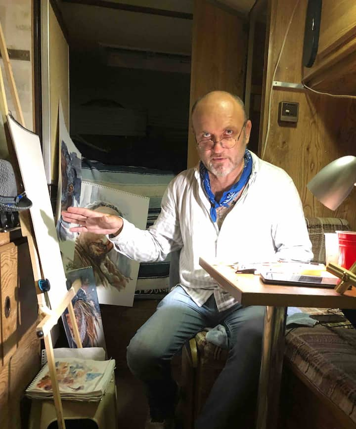 """Art Camper"" Study with Artist Vincent Scurr!"