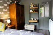 Dragonflies bedroom wardrobe and lap top desk.
