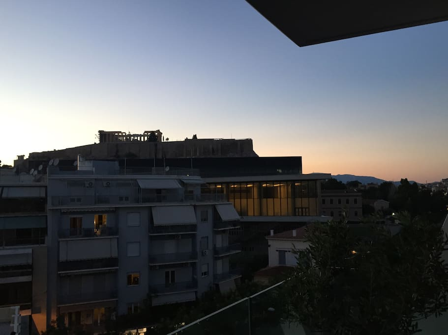View inside the Acropolis Museum from the veranda!