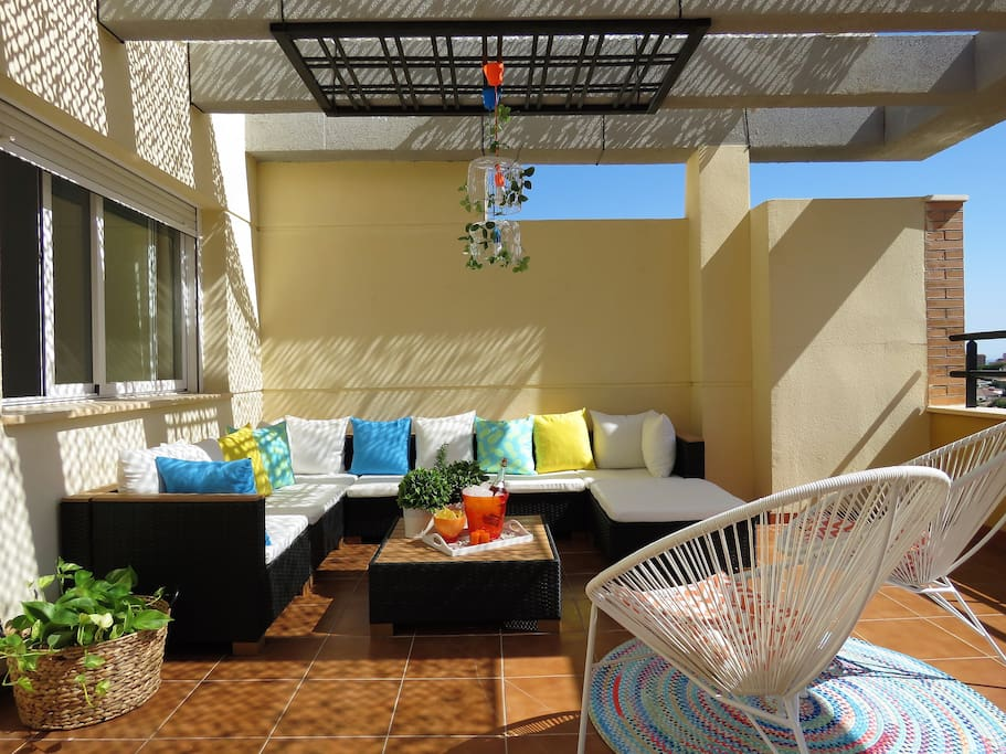Chill out terrace for your relaxing time