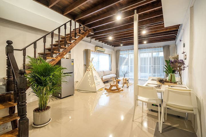 3BR Family Suite/MRT/Town House /The night market