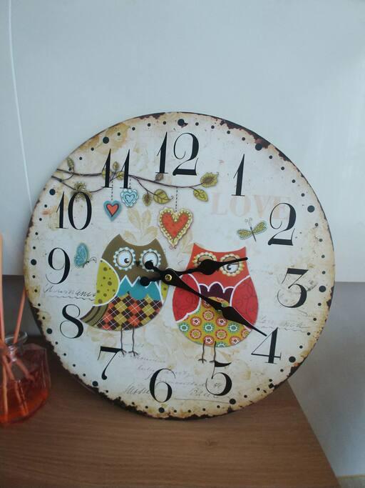 부엉이 커플 시계가 몽이네 하우스에  새로 왔어요 ^^
