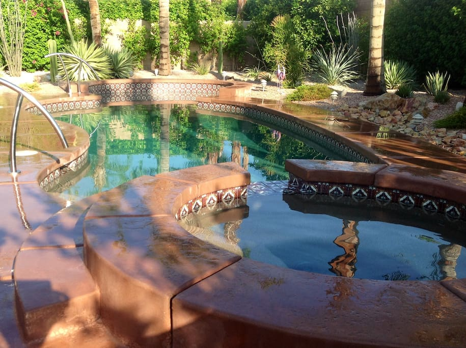 Recently remodeled pool and spa