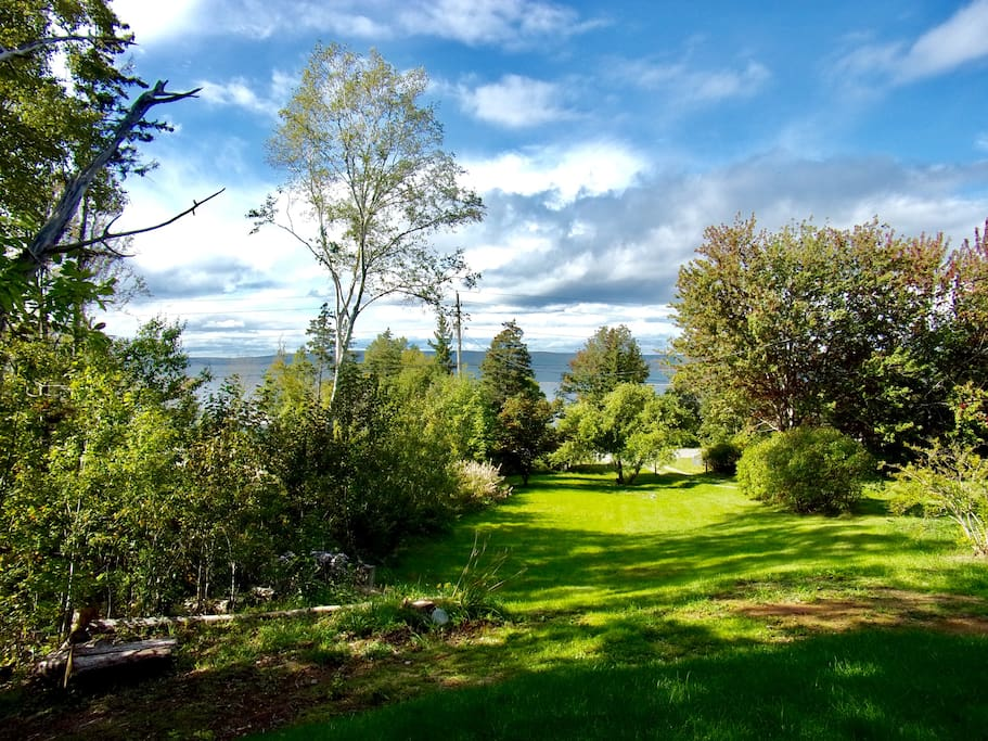 View from farmhouse over Bras D'Or sea