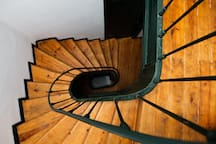 Staircase - the apartment is on second floor