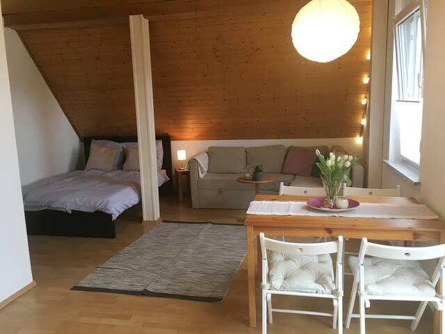 Helles Zimmer mit Küchenecke + Balkon zw. HH + HL