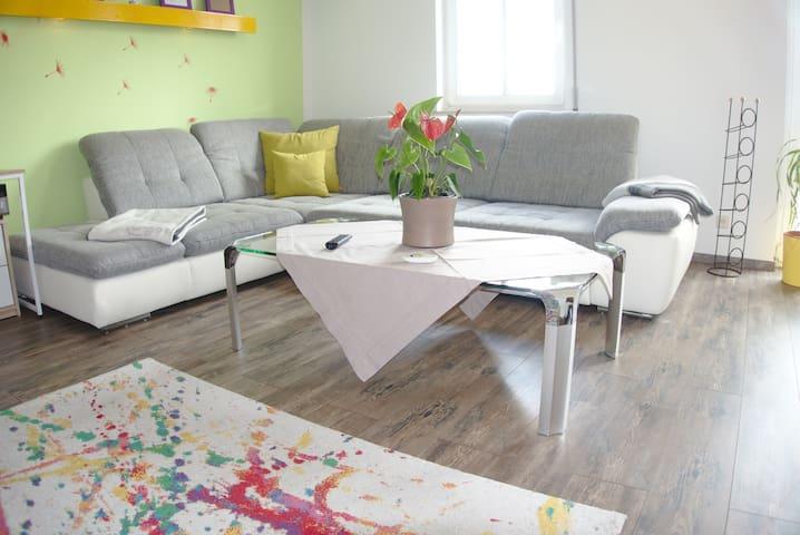 Wohnung +Netflix +65 Zoll TV +Anlage +XL Dusche