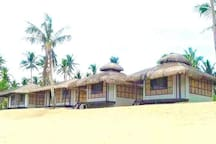 Beachfront Cabanas for overnight accommodation
