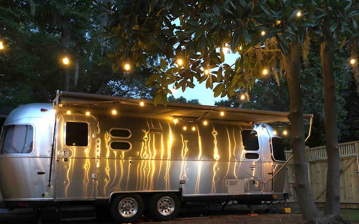 Silver Belle Airstream + Private Pool & Hot Tub