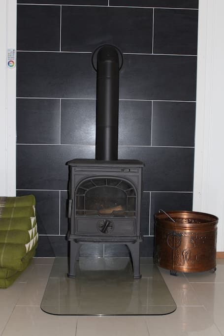 Small fireplace for cold winterdays