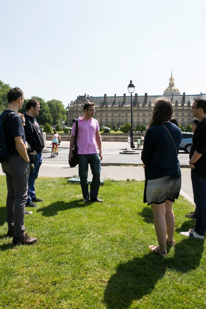 In front of the Invalides