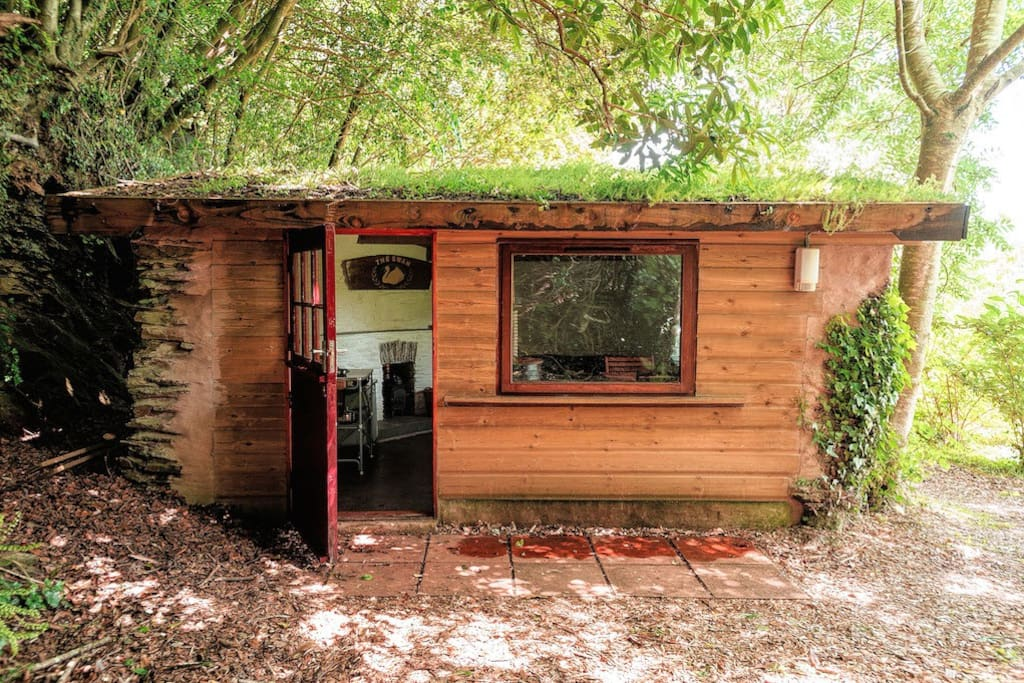The cottage with wood log burner and a sofa bed