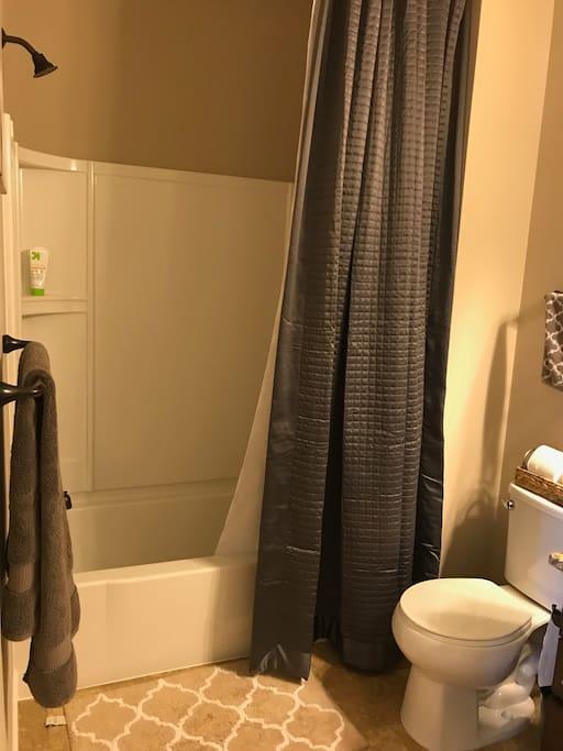 Private Basement Bathroom - Full shower