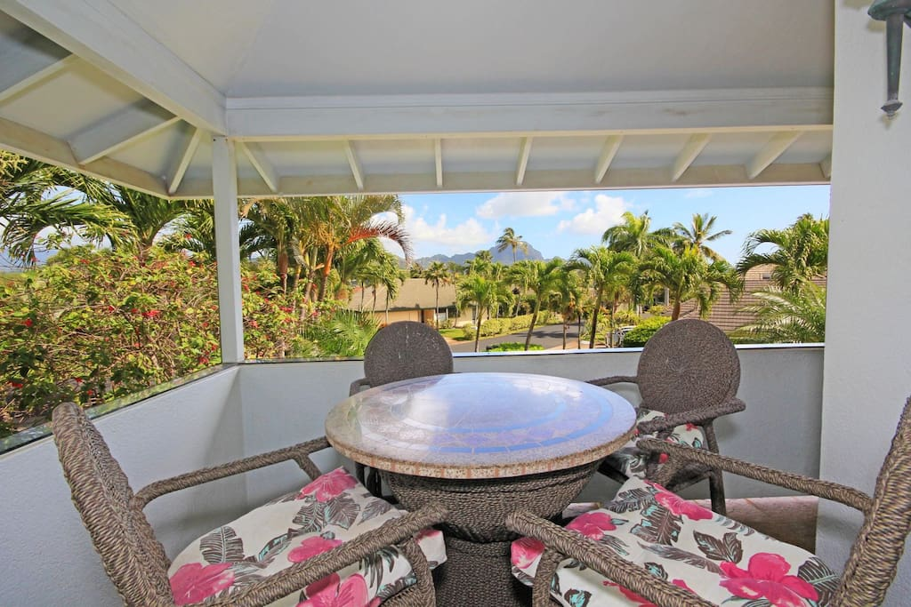 Lanai on the Main Floor with a View of Hauupu