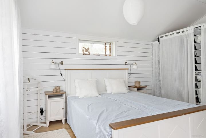 The bed offers great sleep, and this cabinet also includes your closet.