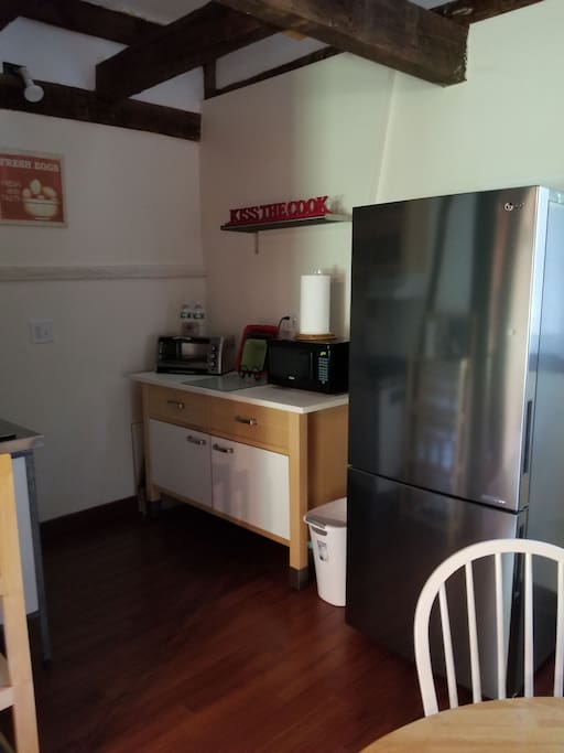 Dining Table and New Refrigerator.