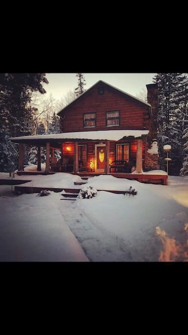 "If you enjoy skiing, snowshoeing, hiking, snowmobiling, or if you just want to relax, set by the fire with a glass of wine and cook a gourmet dinner in the Lodges full restaurant quality kitchen the ""Lodge"" will meet all of your expectations!!"