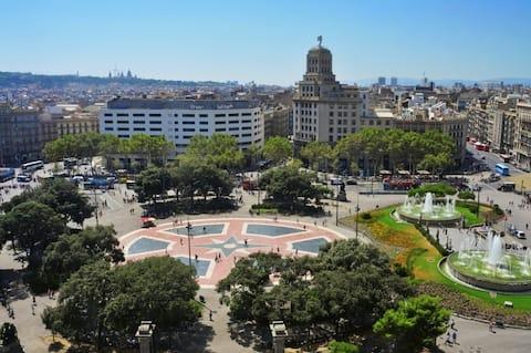 Plaza Catalunya Double Room - Barcelona Downtown