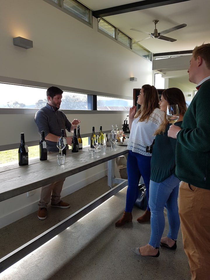 Tasting the delicious local wines