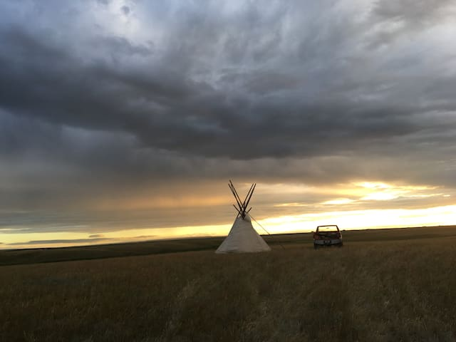 Remote Teepee on A Land of Grass