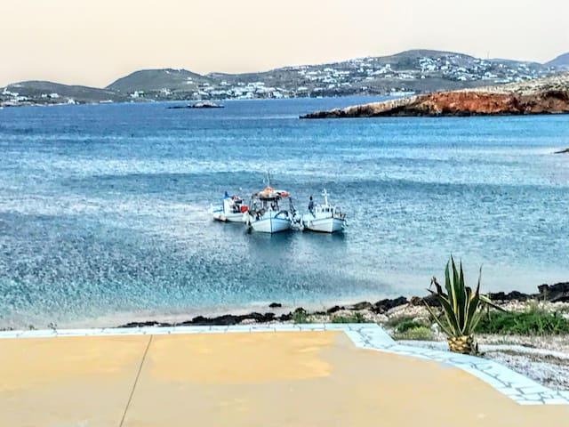 Paros Parasporos Villa with pool by the sea (3)