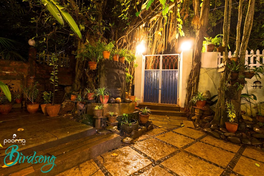 Let Buddha welcome you into the peaceful and cordial ambiance of Poorna Birdsong