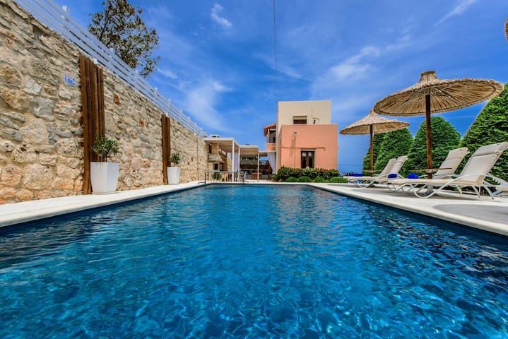 While outdoors, the terrace is complemented by a great private swimming pool!