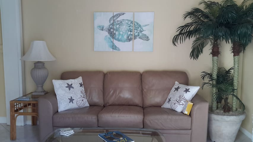 Family room with queen sleeper sofa-brand new mattress