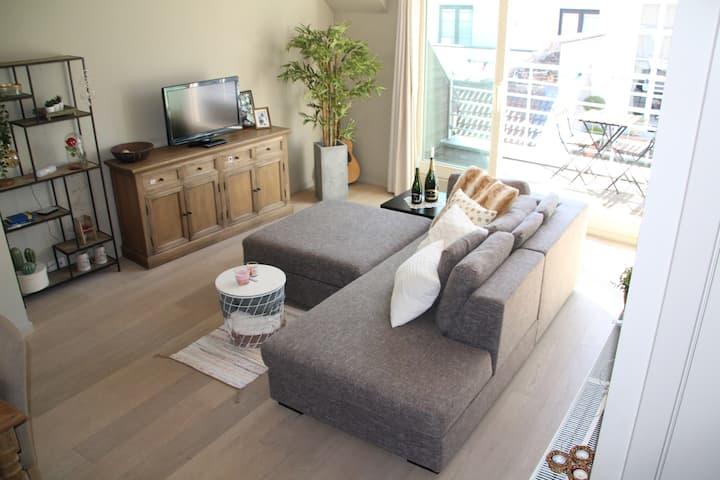 Gezellig ruim zonnig duplex-penthouse Gent-Centrum
