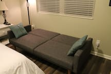 Full-Size Sleeper Sofa (Pull Couch away from window and Pull Back forward to Lay down)