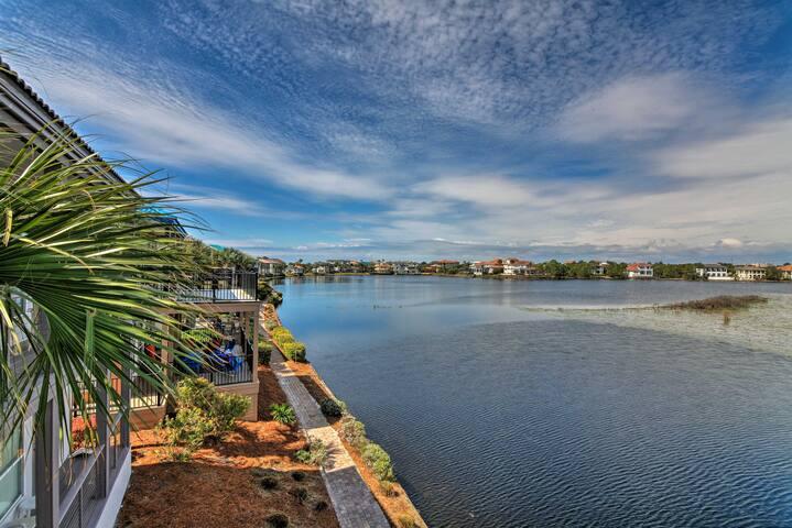 NEW! Lakeview Destin Condo - Walk to Beach!